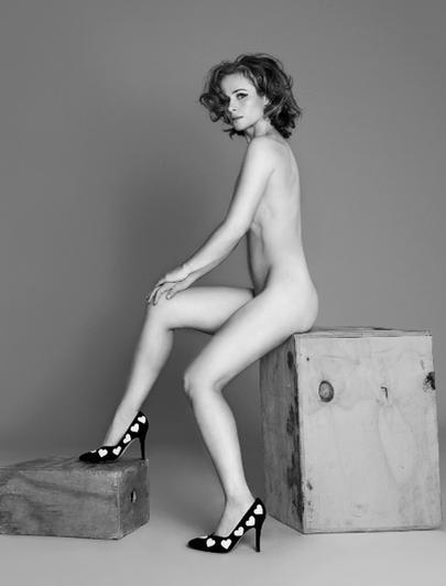 Elizabeth Elam posando desnuda para Playboy La