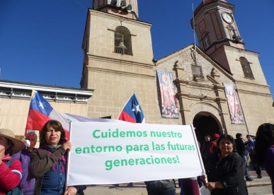 Resultado de imagen para protesta por contaminacion en chile